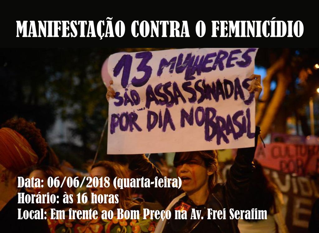 manifestação contra o feminicidio